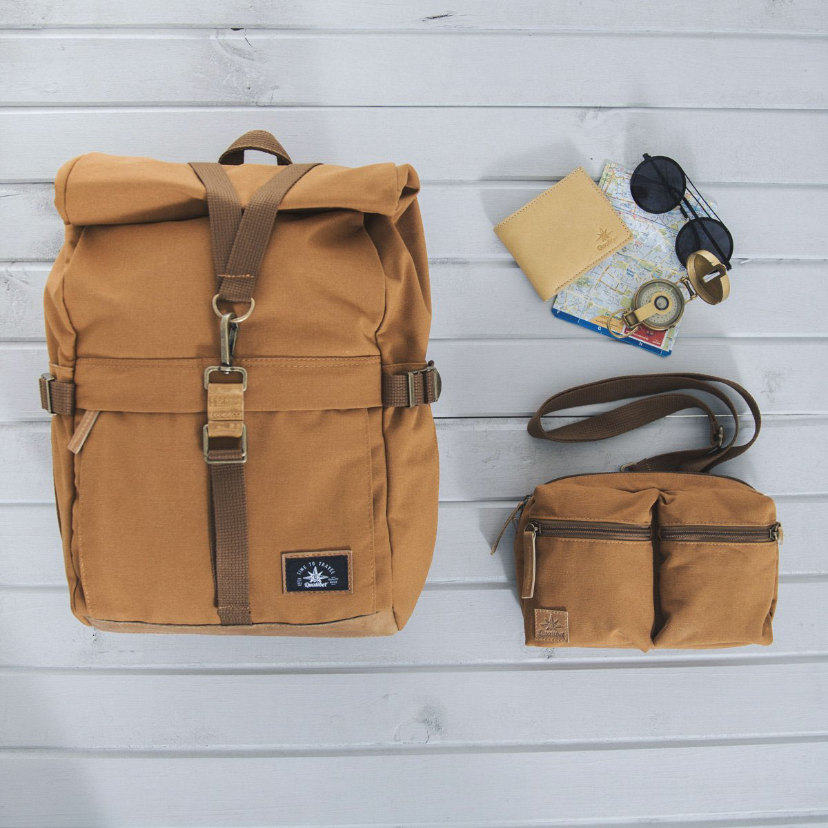Biker Backpack Brown