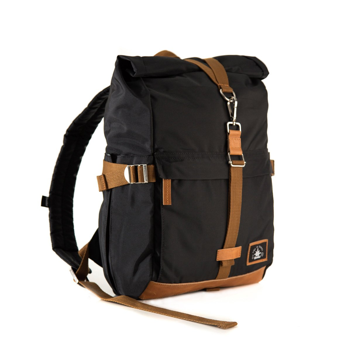 Biker Backpack Black x Tabaco