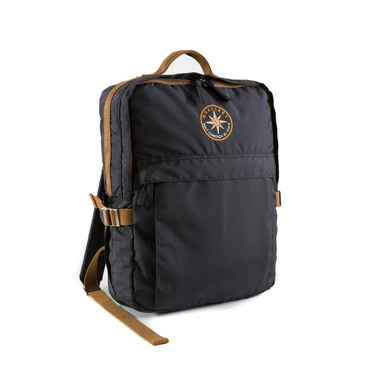 Square Backpack Black (Vegan)