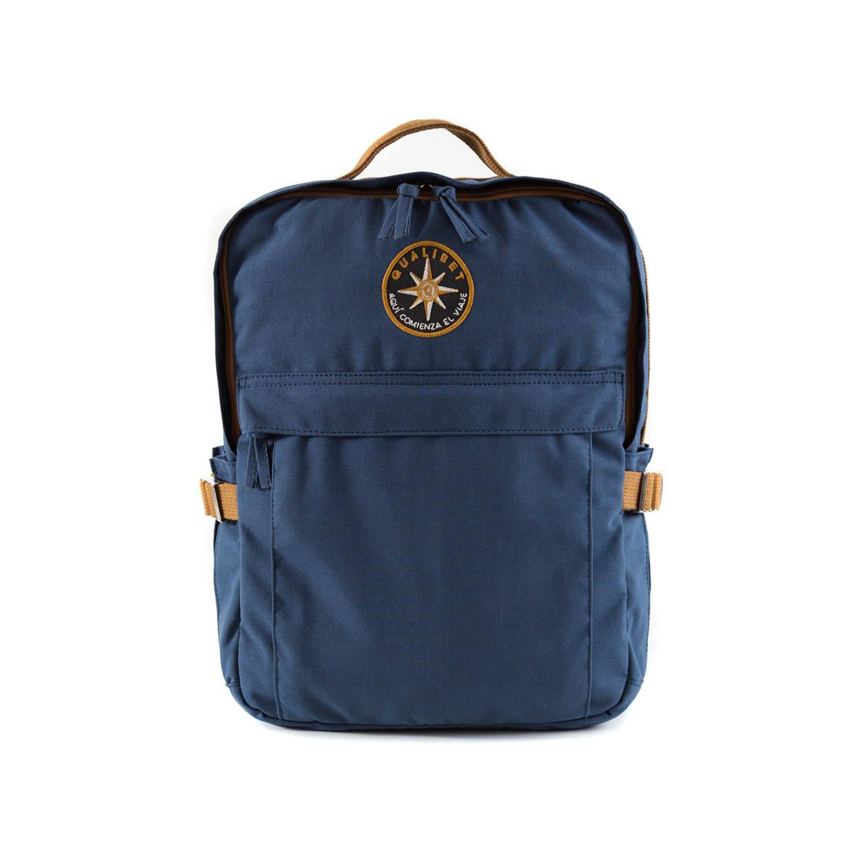Square Backpack Navy (Vegan)