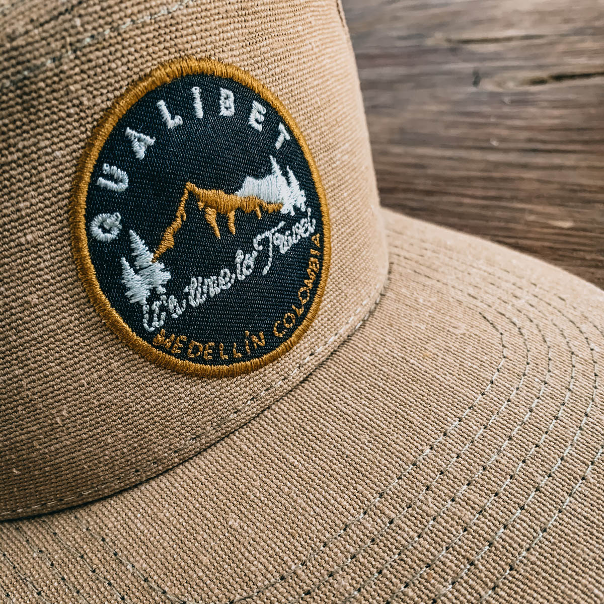 Six Panel Cap. Eco Camel
