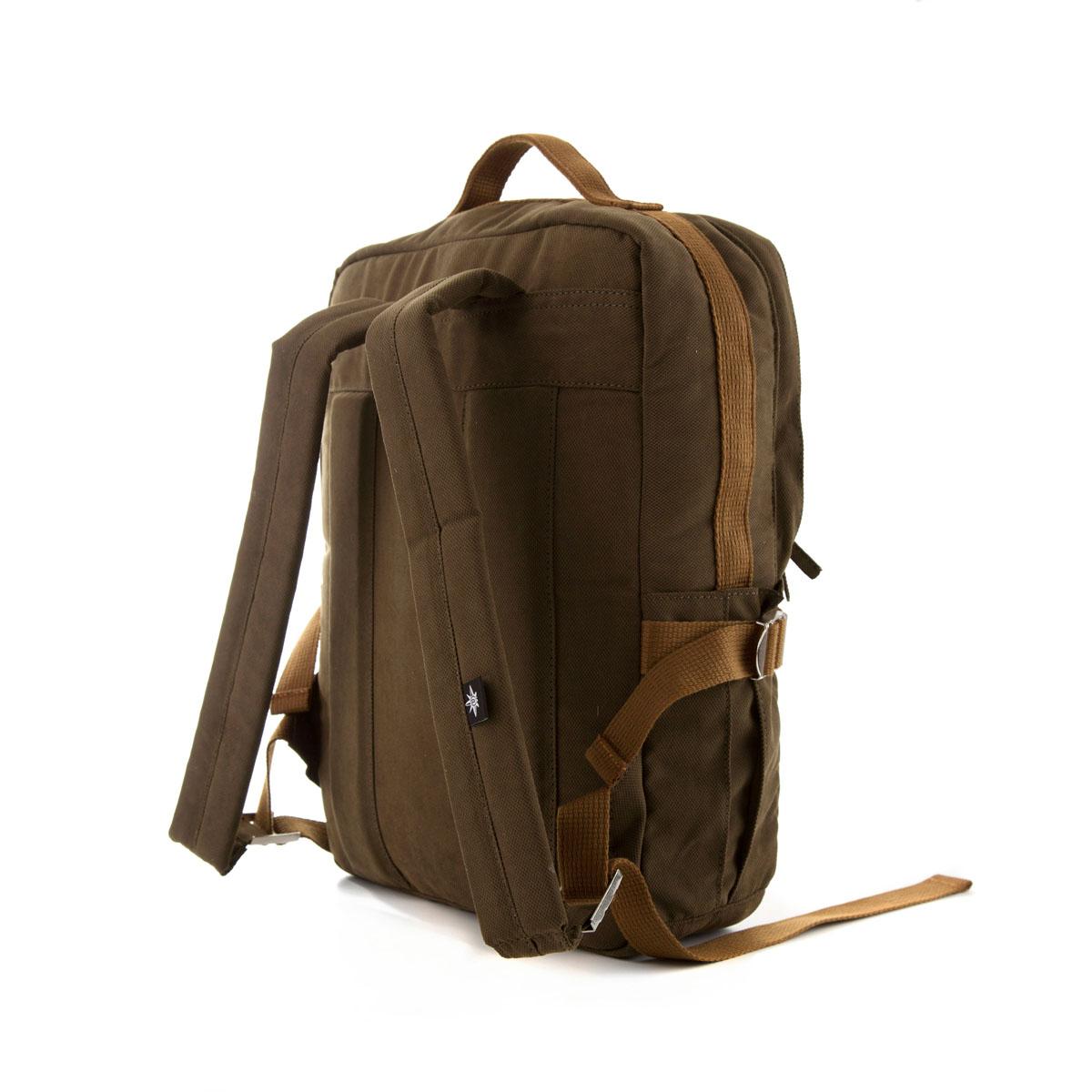 Square Backpack Green Vintage (Vegan)