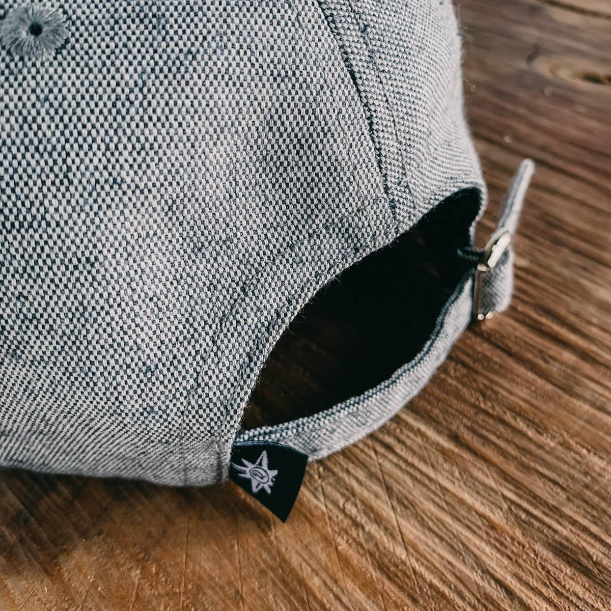 Six Panel Cap. Eco Gray x Black