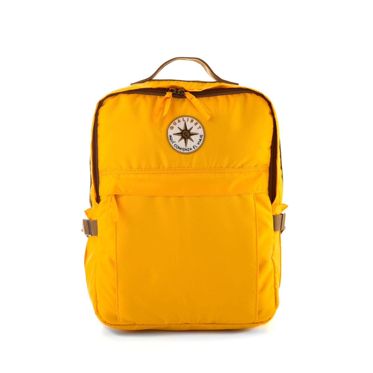 Square Backpack Mostaza (Vegan)