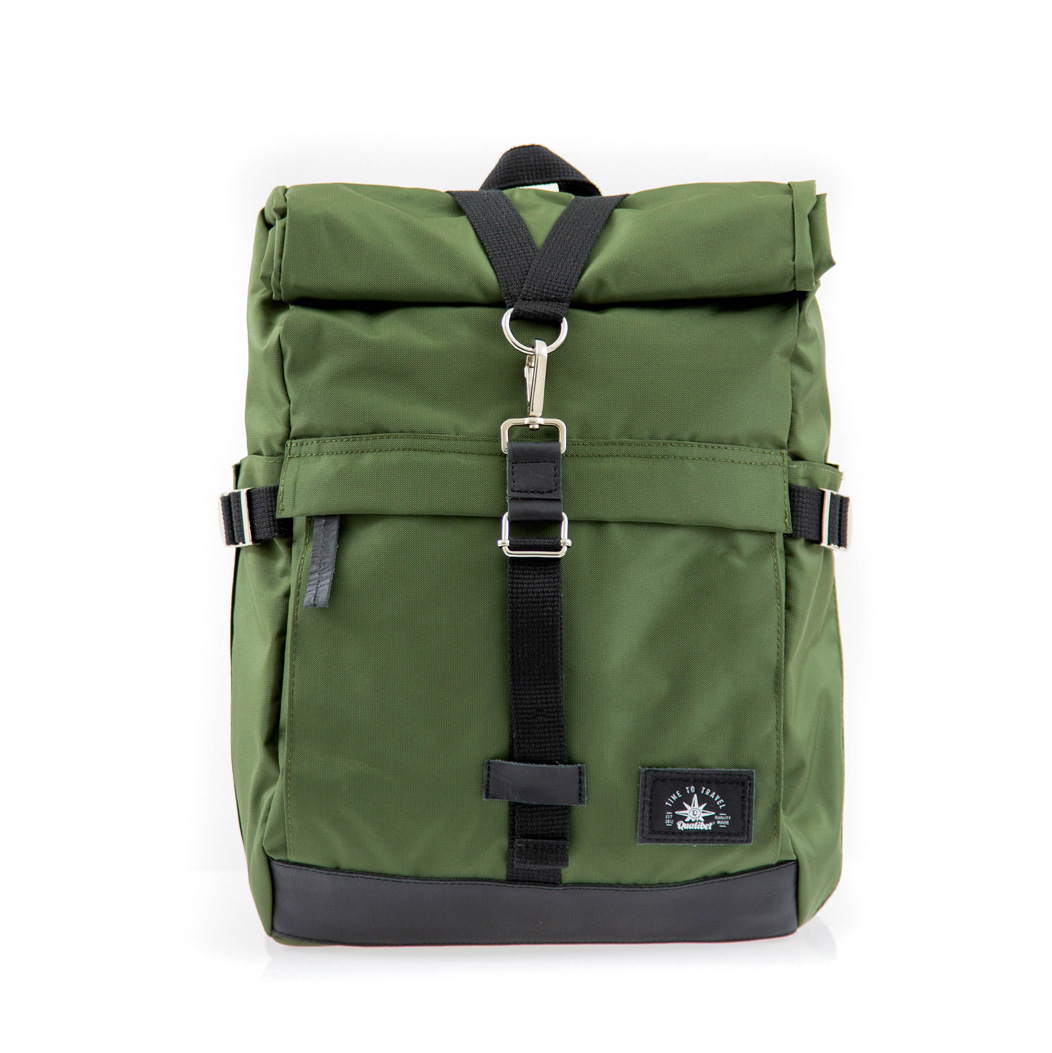 Biker Backpack Green x Black