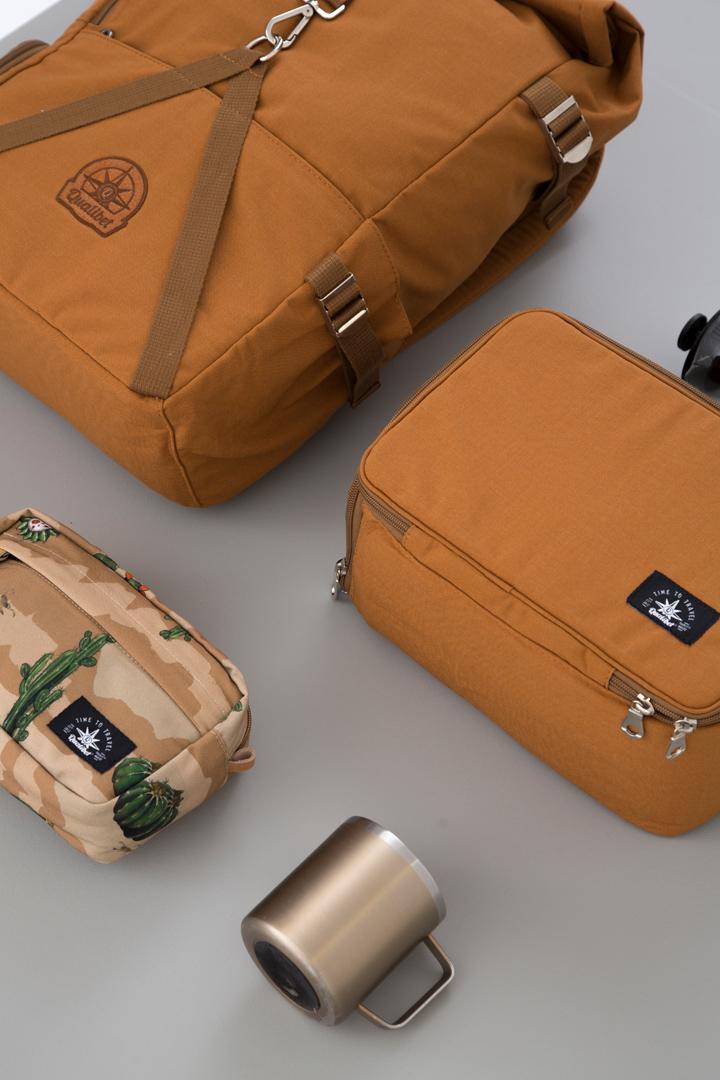 COMBO. Rolltop Backpack 2.0 + Camera Bag (Brown)